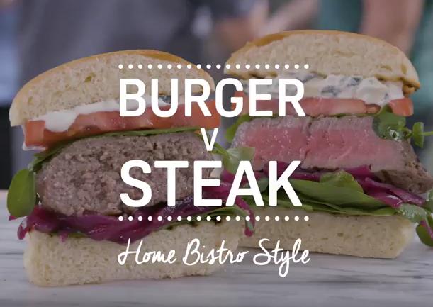burger v steak