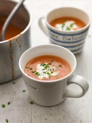 tomato soup in mug