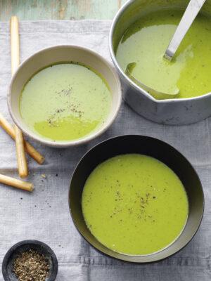 soups & salads mint pea soup