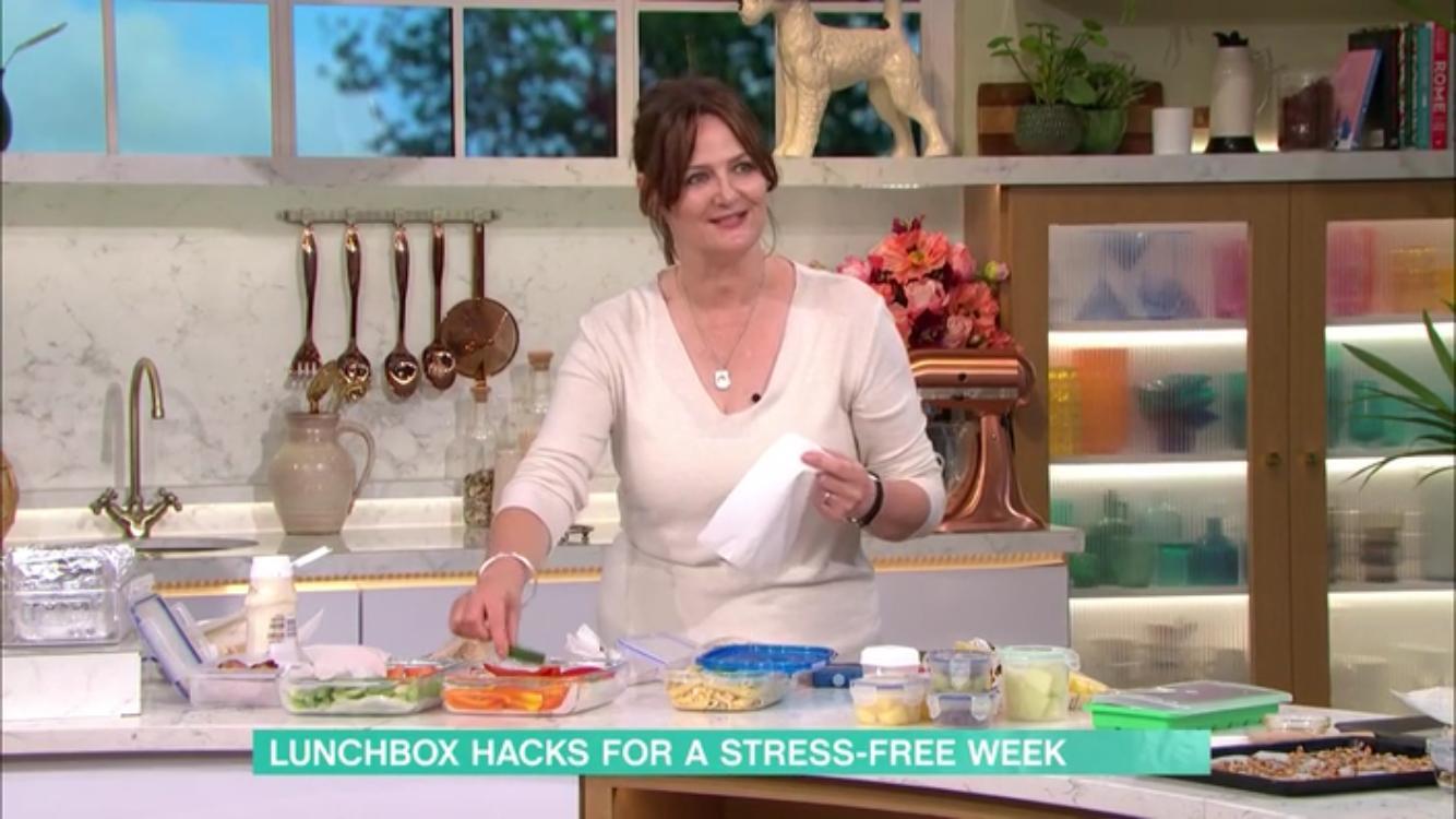 Justine Pattison in ITV This Morning Kitchen