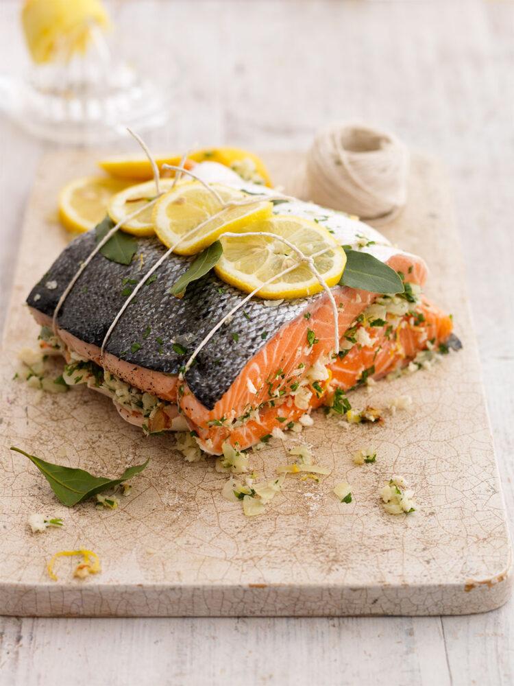 Lemon and parsley salmon