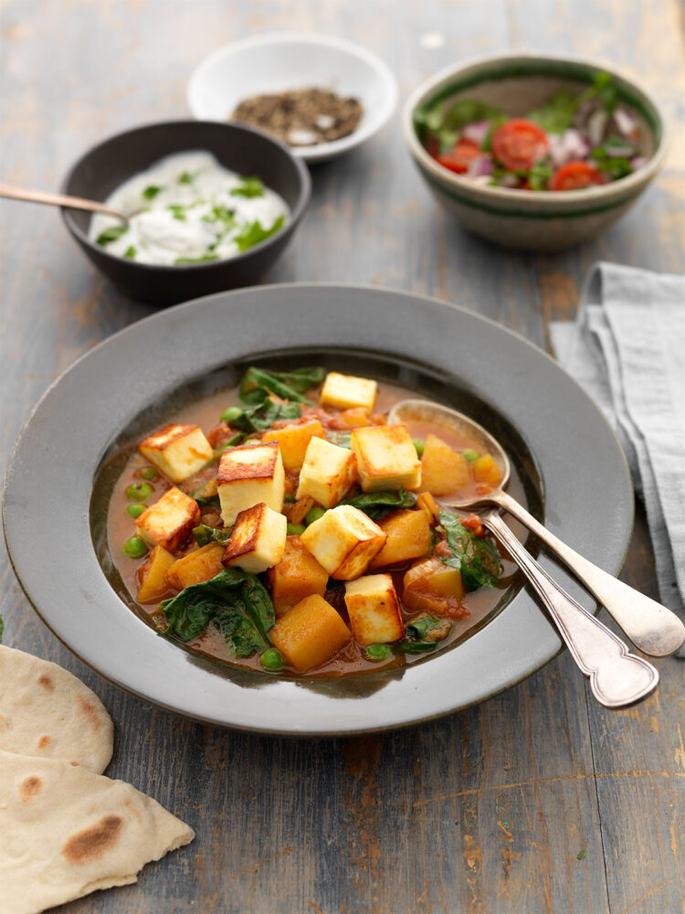 Paneer and veg curry