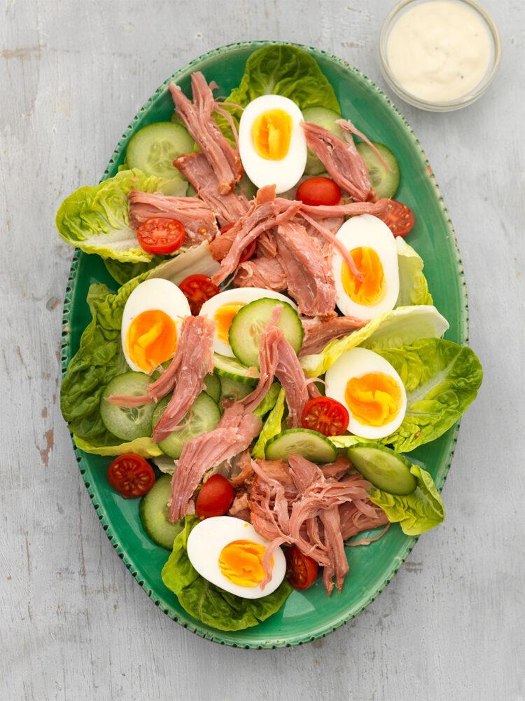 Pork ham salad