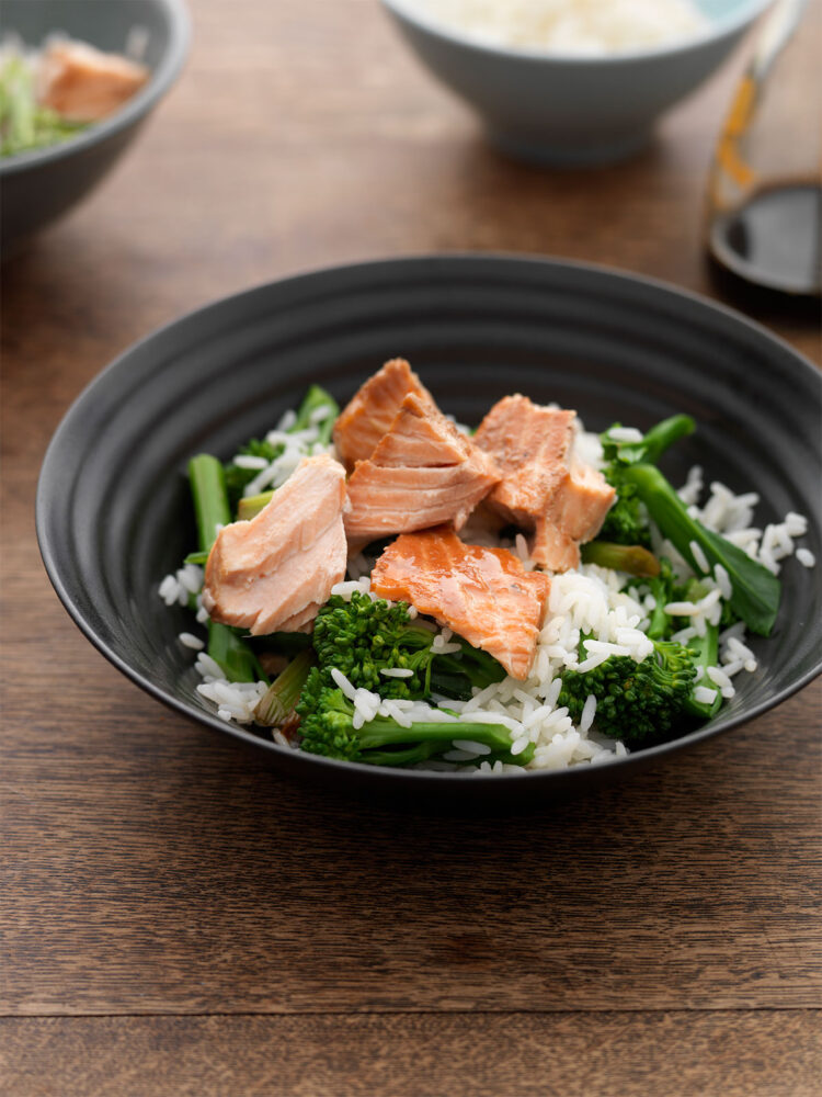 Simple soy salmon