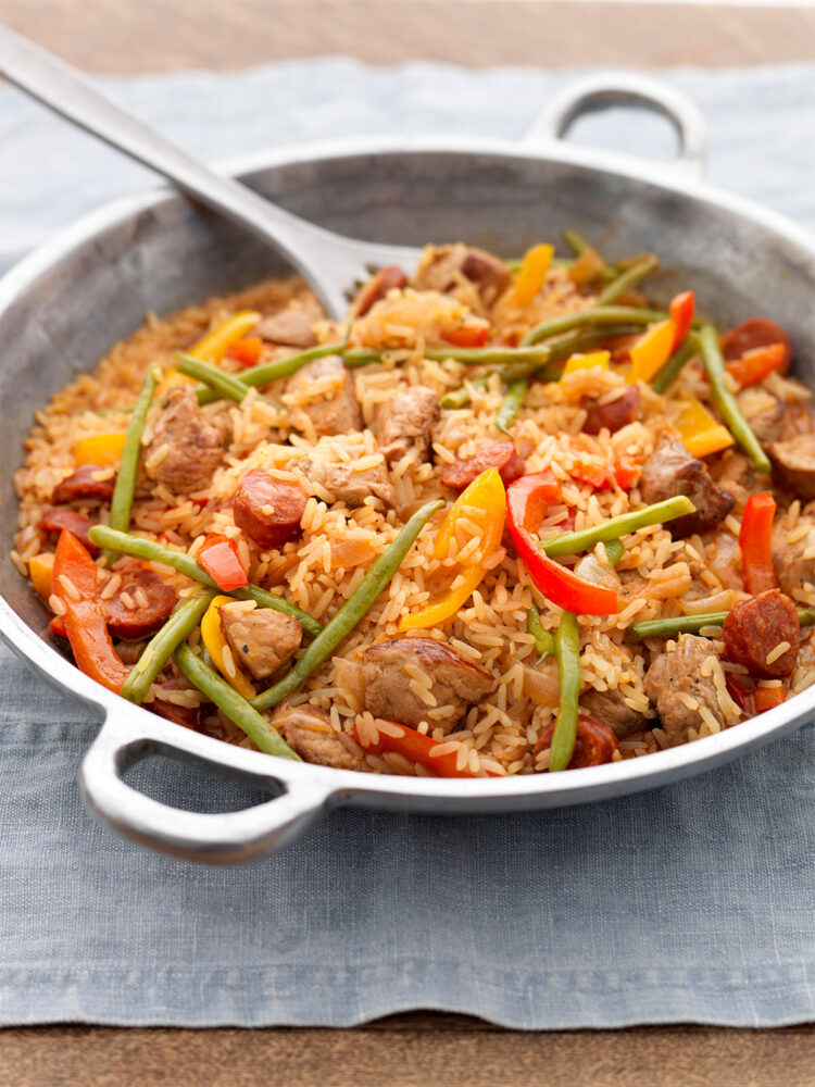 Spicy pork with peppers