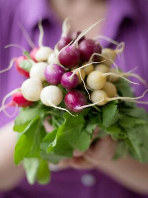 radishes, food styling, vegetables, vegetarian