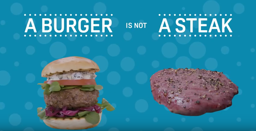 burger v steak