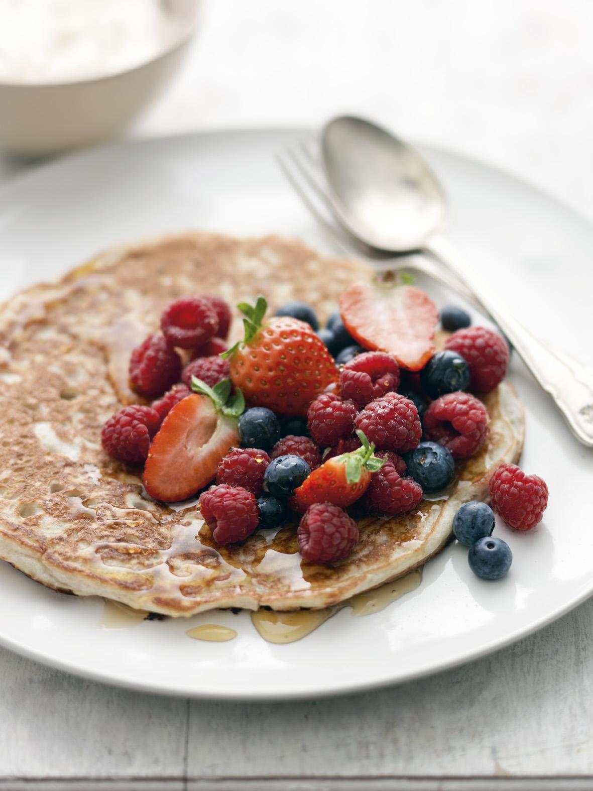 Fluffy Fruit Pancakes