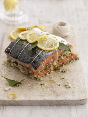 lemon and parsely salmon